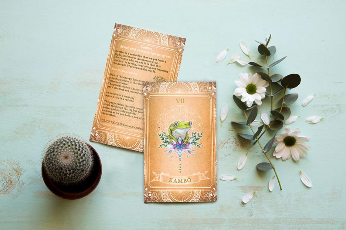 design flyer illustre medecine alternative nature kambo fleur de vie