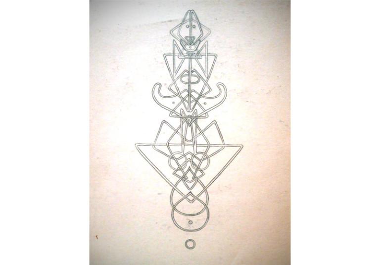 creation dessin symetrique artistique crayon a papier