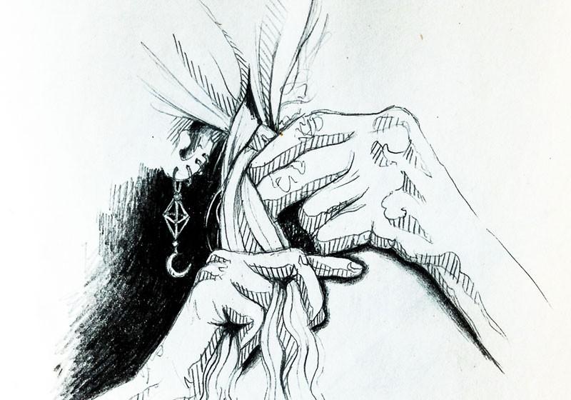 dessinateur illustrateur 82 dessin femme tresse