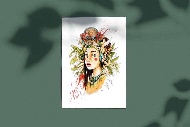 poster jungle femme