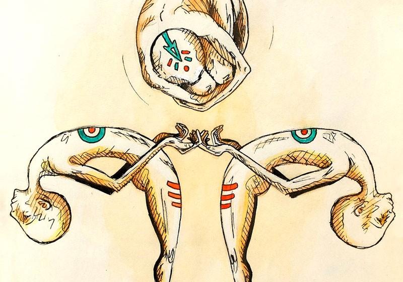 illustration surrealiste corps humain figuratif fantastique