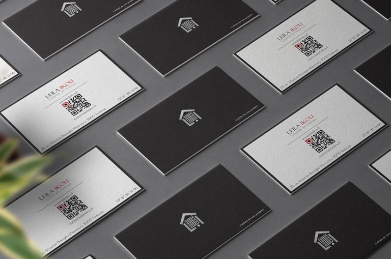 carte de visite et logo epure elegant sobre graphiste