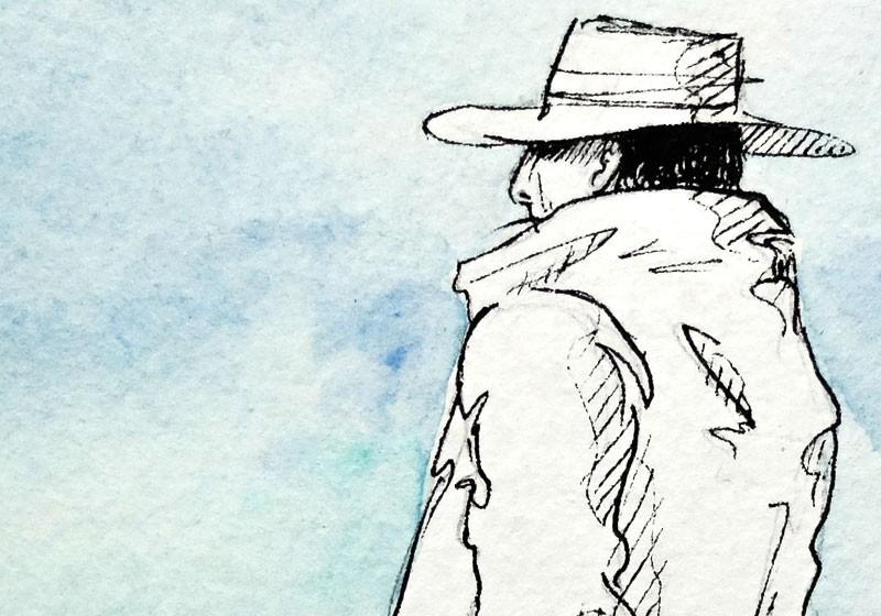oeuvre artiste dessin croquis personnage chapeau