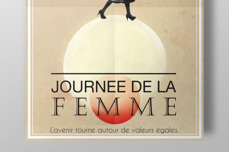 graphiste design minimaliste affiche jour de la femme egalite