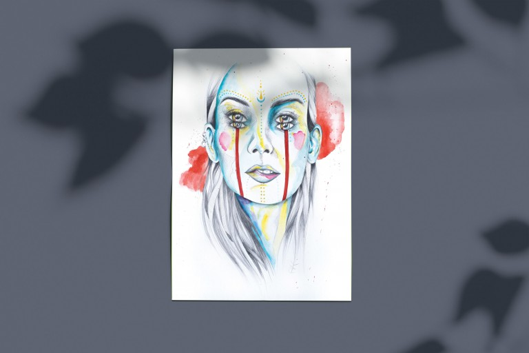 poster surrealiste femme