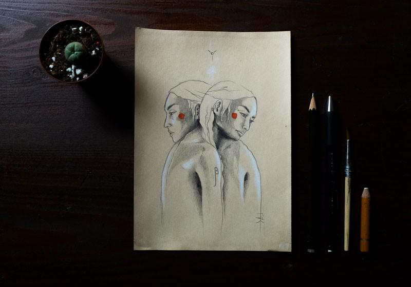 art artiste dessin crayon ombres et lumieres