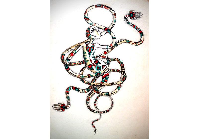 dessin illustration couleurs art surrealisme