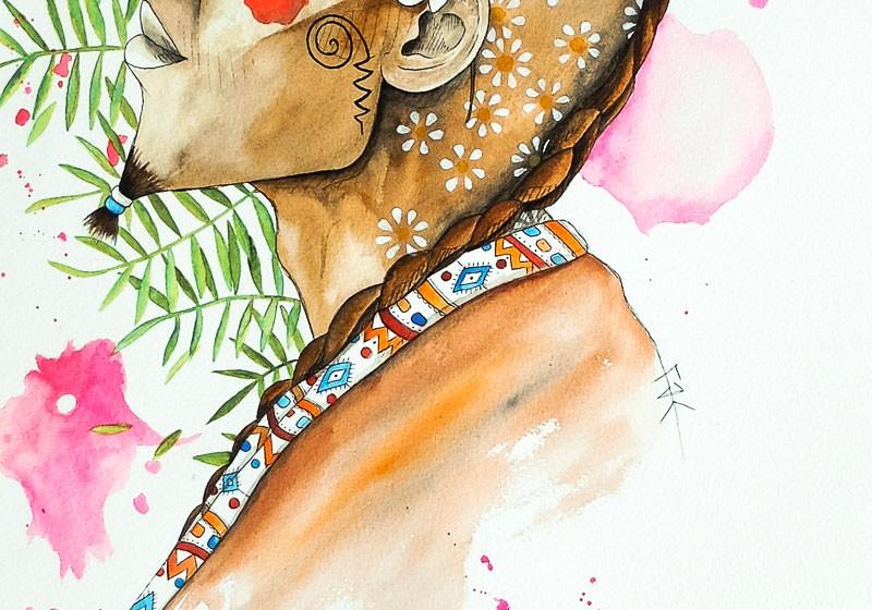 deco artiste art peinture aquarelle ethnique