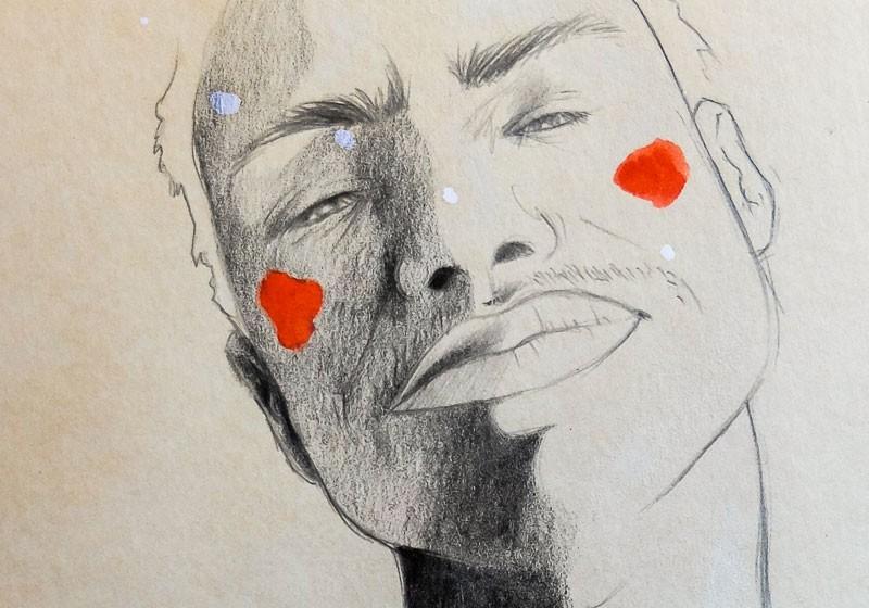 oeuvre unique dessinateur portrait artistique homme