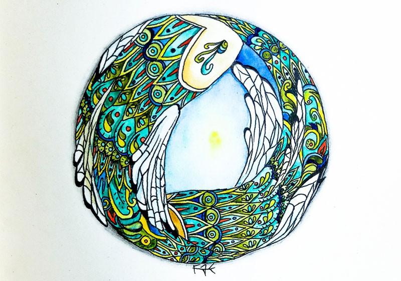 creation artistique poissons cercle eau element nature