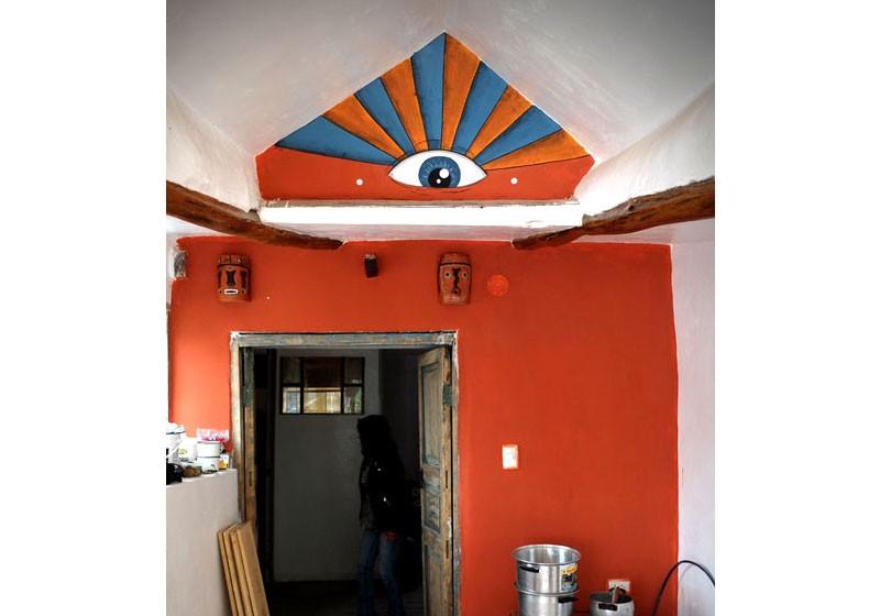 peinture murale artistique hotel entree oeil