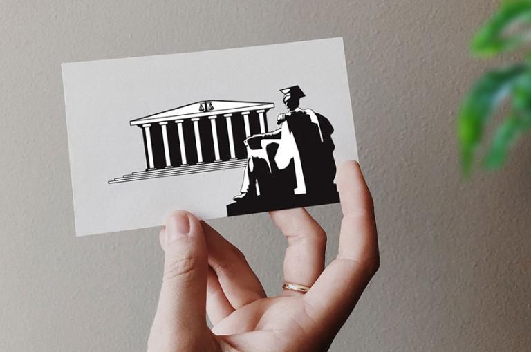 logo carte de visite avocat professionnelle