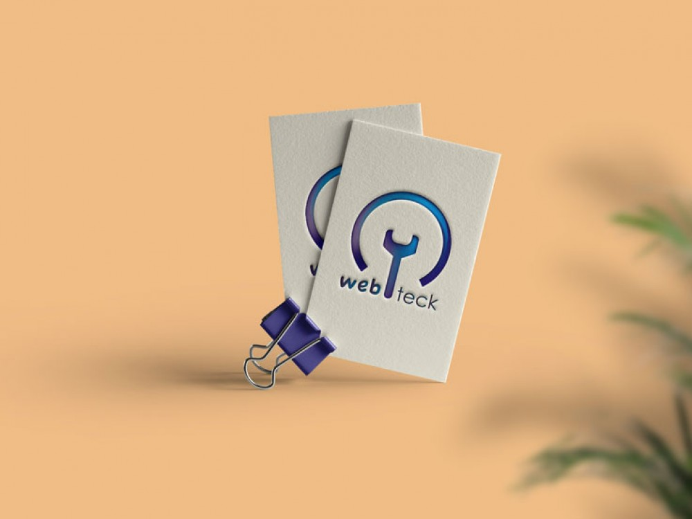 logo carte de visite au design minimaliste